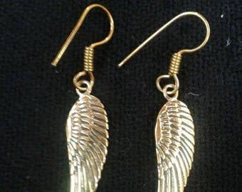 Feather Drop Earrings