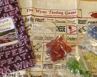 Wine game-Table Top Game-Wyne Tasting Game- 21+ game-21st birthday- dinner party- wine gift basket- Coffee Work Wine Repeat