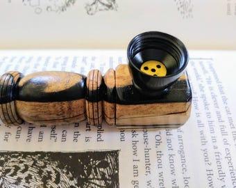 Ebony Wood Heavy Wood Pipe
