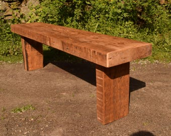 Rustic Reclaimed Joist Bench