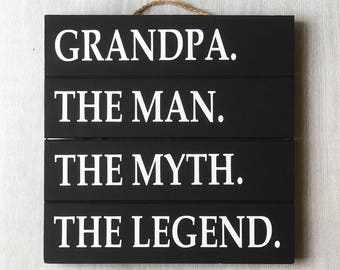 Grandpa sign etsy grandpa sign man myth legend new grandpa gift grandpa wood sign grandpa sciox Gallery