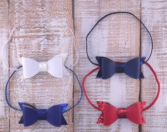 Bow Headband, Glitter Bows, Newborn Headband, Girls Headband, Toddler Headband