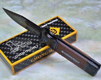 Knife Folding Pocket CHONGMING 9.5 cm 12 cm steel/resin handle steel blade