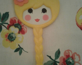 Free Shipping Anywhere!!! Vintage Yellow Hand Mirror Things Are Not What They Seem