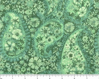 "108"" Quilt Backing Green Santee Prints"