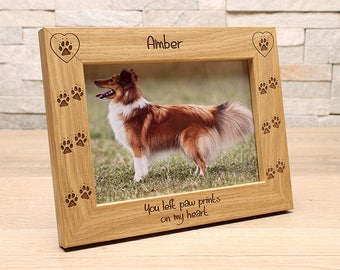 Dog/Cat/Pet 7x5 Personalised Photo Frame.