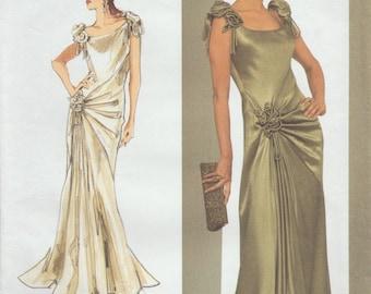 Vogue 1015•Designer Original Sewing Pattern•Bellville & Sassoon•Evening Dress•Bias Cut Gown•Wedding•Sizes 14•16•18•20•Designer Couture Gown