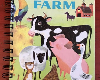 Little Golden Books-Upcycled Journal-A Day on the Farm
