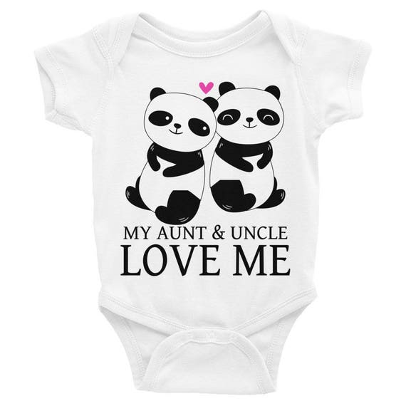 Aunt Onesie, Cute Baby One Piece, My Aunt and Uncle Love Me Newborn Baby Clothes, Aunt Gift, My Aunt Loves Me, Aunt Baby Bodysuit, Auntie