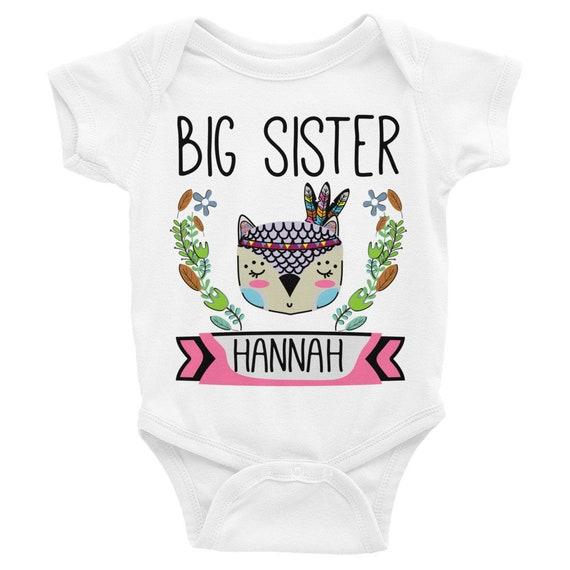 custom onesie, big sister shirt, personalized onesie, baby onesie, onesie, baby girl onesie, big sis shirt, big sister tee, big sister to be