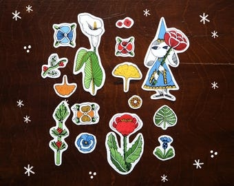 Botanic magic - set of stickers