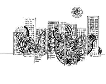 Night Life: Doodle Art