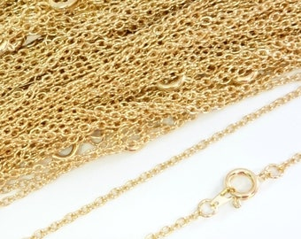 22ct Gold Plated Necklace Trace Chain 24 Inch 4PC 10PC