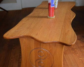Oak Ying Yang coffee table