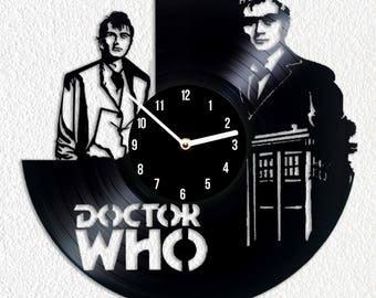 Vinyl clock Doctor Who