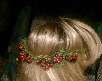 Holly-day Hair Wreath