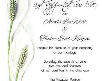 Lily Wedding Invitation