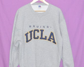 Vintage 90s UCLA BRUINS Sweatshirt Sweater Made in USA Large Size