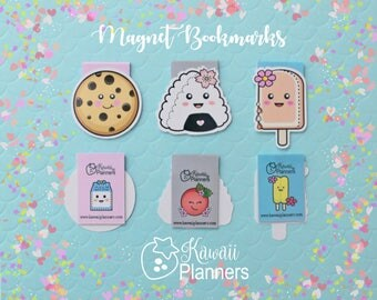 Kawaii Magnetic Bookmarks - Set of 3