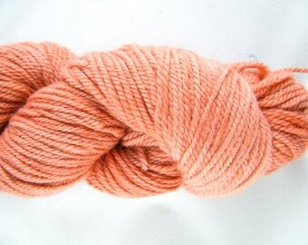 Sport Yarn - Handdyed in Canada - Orange - 100% Merino - 100g - 295 yd - Bayou Yarn - One of a Kind - #481