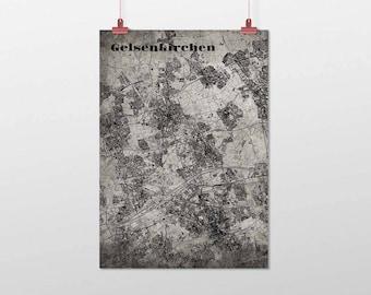 Gelsenkirchen - A4 / A3 - print - OldSchool