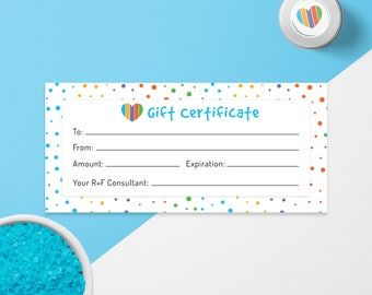 Rodan and Fields Gift Card, Rodan + Fields Gift Certificate, RF Gift Certificate, Digital Files, Instant Download