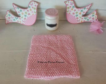 Strapless, lined, crochet top tutu, 3/6 years