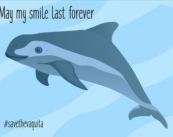 "Vaquita ""May my smile last forever"" Mug/Water Bottle"