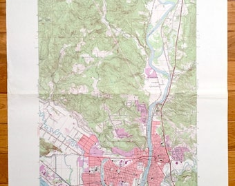 Longview map print Etsy