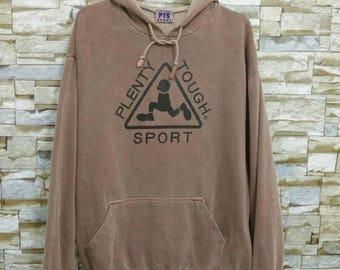 MEGA SALE Vintage Plenty Tough Sport Sweatshirt Hoodie Sweater Big Logo Size L