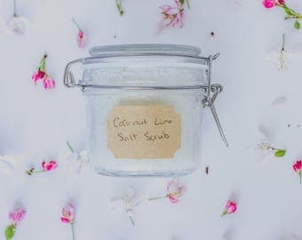 Coconut Lime Salt Scrub
