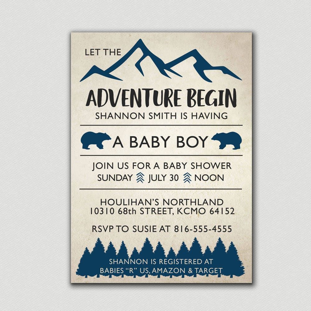 Camping Baby Shower, Hunting Baby Shower, Mountain Baby Shower ...