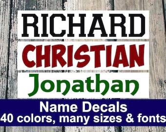 Name Decal