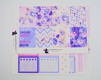 Weekly planner sticker kit, Available for use with Erin Condren and Happy planner vertical layouts. Wild Air