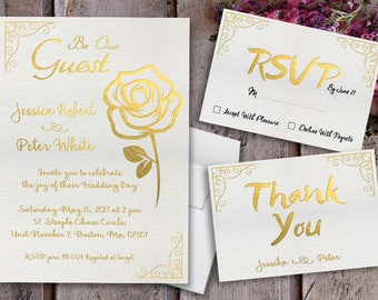 beauty and the beast wedding invitations beauty and the beast invitations gold foil invitations - Beauty And The Beast Wedding Invitations