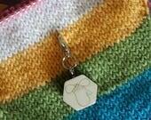 Mitten wooden progress keeper - knitting notions - charm
