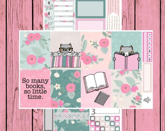 So Many Books - Itty Bitty Kitty - Mauly loves to Read - 2 page mini kit