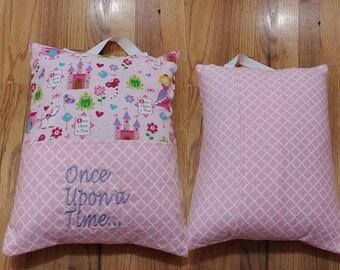 Princess pillow/ Book pocket pillow/Pillow with pocket/Book pillow