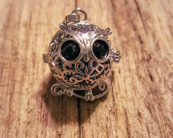 Wise Little Owl Harmony Ball Locket, Owl Jewelry, Charm Jewelry, Chime Jewelry, Wise One, Little Owl, Angel Caller, Bola Chime, Mexican Bola