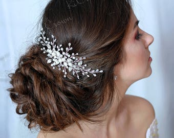 Wedding Comb, Bridal Hair Comb, Bridal Headpiece, Wedding Hair Piece, Pearl Hair Comb, Pearl Hair Piece, Hair Jewelry