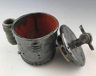 Industrial Lidded Jar