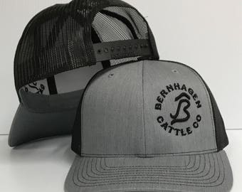 Customize your brand or logo like our Bernhagen Cattle Cap.