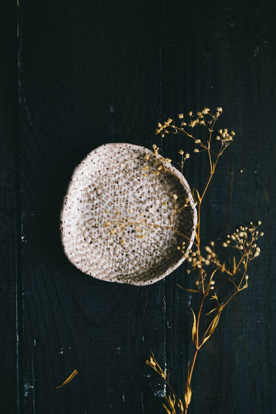 White Speckled Small Dish