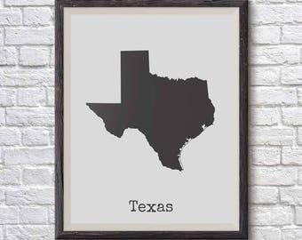 Texas Wall Art texas map poster | etsy