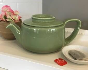 Vintage, Green Hall Teapot