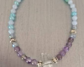 Quartz Crystal Beaded Bracelet
