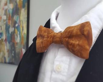 Maple Burl Bow Tie