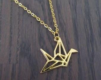 Necklace Origami Faucet Bird