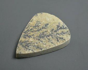 Psilomelane Druzy.. Psilomelane cabochon.. Dendritic limestone..40.5x30.1x5.9 mm...51 Cts...#2624