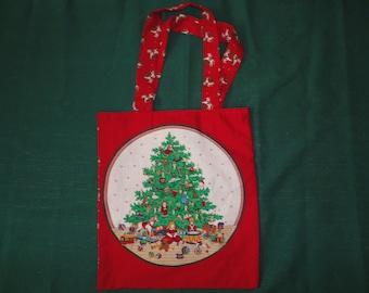 Christmas Fabric Tote/Gift Bag